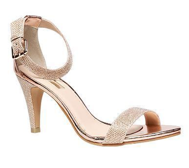 BATA Leather Marie Claire Gold Sandals