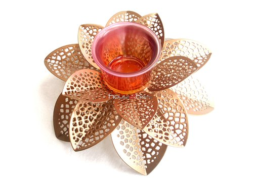 Metal Lotus Flower Candle Holder Rs 01 Pcs House 2 Home Id