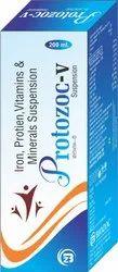Iron , Protein, Vitamin B6, D-Panthenol, Niacinamide , Zinc, Manganese Chloride Syrup