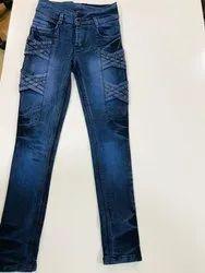 Denim Casual Wear Girls Stylish Jeans, Machine wash, 8-16