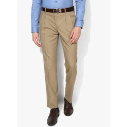Formal Wear Plain Hand Wash Men Regular Fit Pant