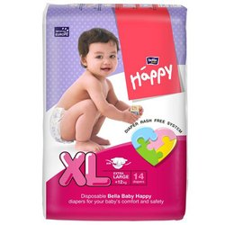 Bella Happy Extra Large Baby Diaper, Packaging Type: Packet