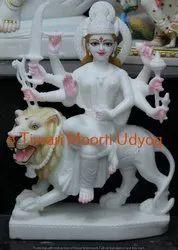 Marble Sherawali Mata Marble Moorti