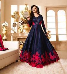 Red And Blue Party Ladies Gown