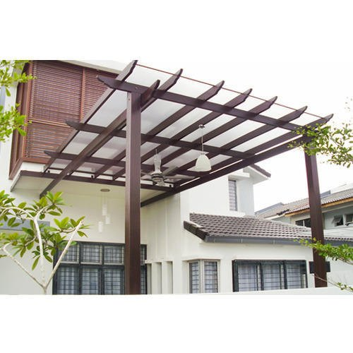 Flat Wooden Frame Glass Pergola Rs 450 Square Feet Can