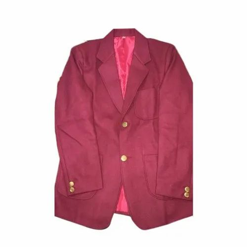 fort unearth Typical  School Dark Red Blazer, Size: 22 to 40, Rs 17 /inch Srivastava Dresess    ID: 21967874962