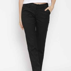 Black Smart Fit Casual Trousers