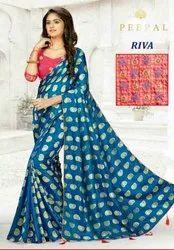 Sana Silk Saree, 6.3 m with Blouse Piece