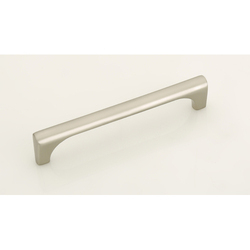 Bluetone Zinc and Brass 224 mm Kitchen Door Pull Cabinet Handle, Silver and Chrome