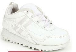 Force 10 Kids White School Shoes 9906