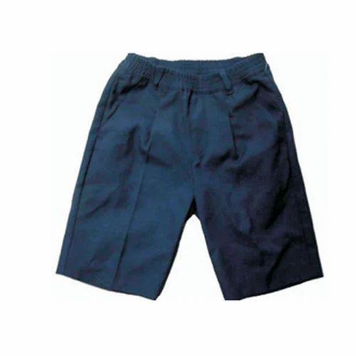 334a74a74 Cotton Mix Navy Blue Boy School Uniform Half Pant, Size: Small And Medium