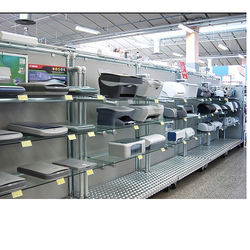 GKW Open Storage Electronic Product Wall Racks, For Supermarket, Showroom