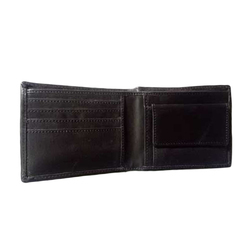 Male Black Leather Casual Wallet