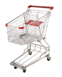 Mild Steel Power Coated Shopping Trolley