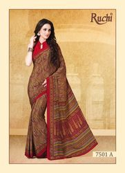 Uniform Crepe Silk Saree