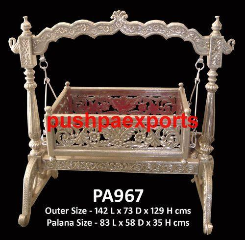 Silver Carved Baby Swing Metal Furniture Suppliers Pushpa Exports