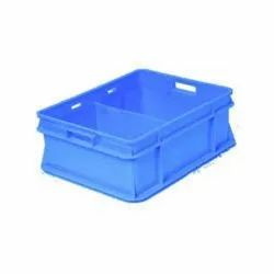 Rectangular Blue Milk Crate With Partition (47x38x16.5Cm) 4737163A, Capacity: 12 Litres