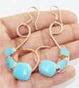 Turquoise Gemstone Electroformed Earrings