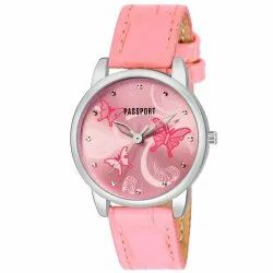 Stylish Pink Ladies Watch