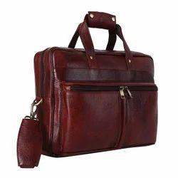 Black/ Brown / Tan Genuine Leather Executive Bag