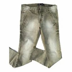 Mens Casual Faded Jeans
