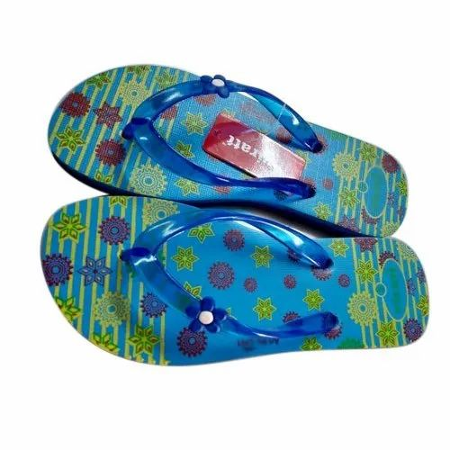 2fffb043b Rubber Also Available In Eva Printed Mens Slight Blue Hawai Slipper, Size:  4-