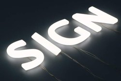 Rectangle LED 3D Glow Sign Board, For Advertising And Promotions