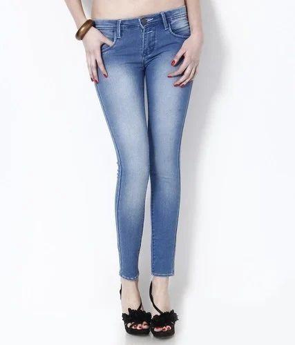 MIF Comfort Woman Ankle Length Denim Jeans