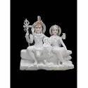 Makrana Marble Shiv Parwati Statue