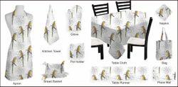 Parrot Textile Printed Apron Set