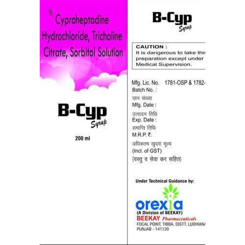 B-Cyp Cyproheptadine Syrup