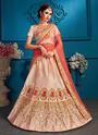 Satin Designer Reception Wear Lehenga Choli