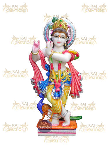 Multicolor God Krishna Marble Statue Rs 30000 Piece Raj
