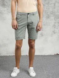 Stylish Grey Cotton Shorts