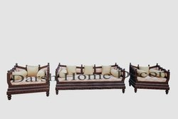 Wooden Carved Sofa Set With Antique Look
