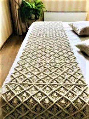 Macrame Cotton Bed Runner