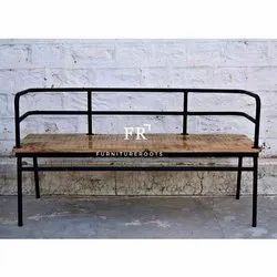 Vintage Shabby Chic Furniture - Industrial Bench for Cafe, Bistro, Pub.