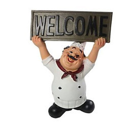 Restaurant Welcome Statue