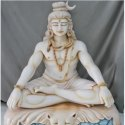 White Marble Bhole Baba Statue