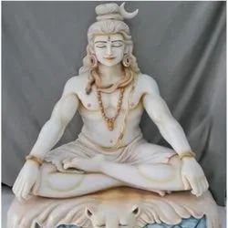White Marble Bhole Baba Statue