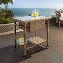 Rattan Trolley Table