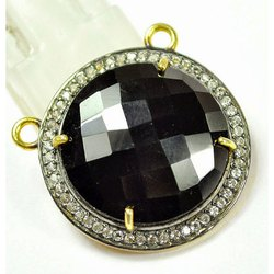 Black Onyx Pave Set Gemstone Charm Pendant