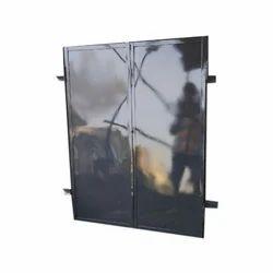 Grey Plain Iron Window