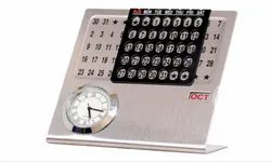 Table Top Calendar With Clock