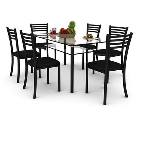 6 Seater Gl Dining Table Set