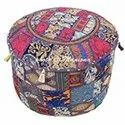 Indian Handmade Patchwork Pouf Cover Home Decor W22xH14
