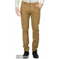 Cotton Plain Mens Casual Trouser