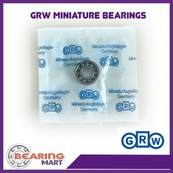 GRW Stainless Steel Miniature Ball Bearing, Shape: Round