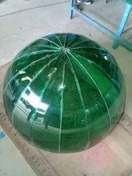 Polished Circle Dome Glass