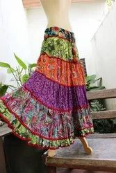 Assorted Printed Cotton Crinkle Skirts